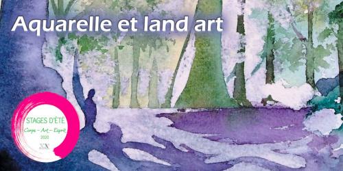 Stage aquarelle et land art